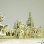 Chichester cathedral in snow