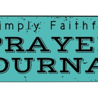 A free printable prayer journal