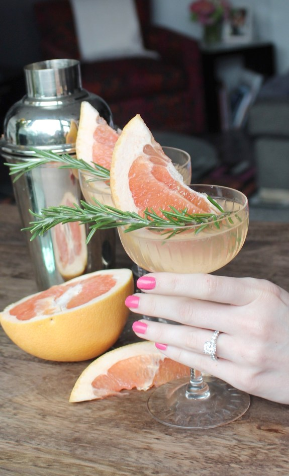 Rosemary Gin Grapefruit Cocktail