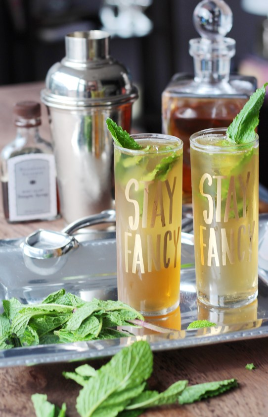 Classic Mint Julep Recipe with Mint Ice Cubes