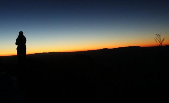 Silhouette Mt Sonder