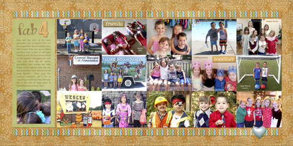 2013 Year In Review Layout Inspiration: Special Friends