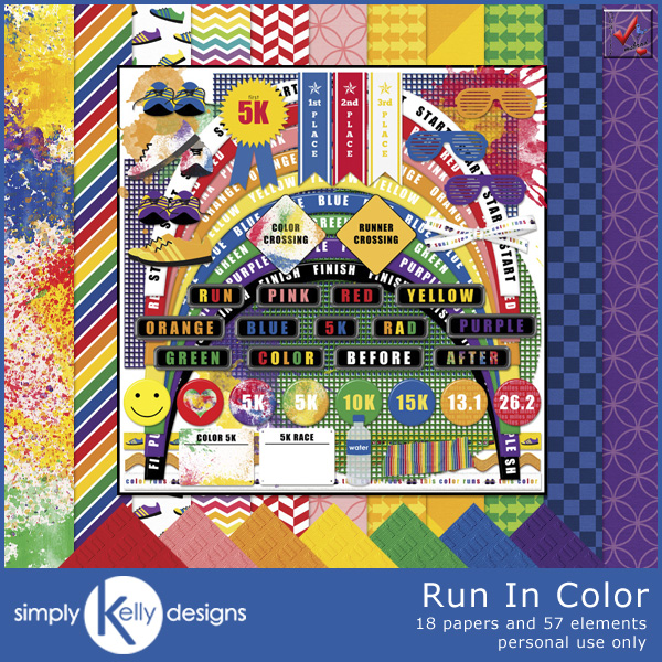 Run In Color Kit by Simply Kelly Designs