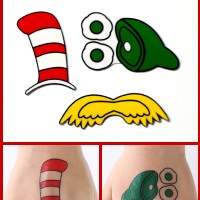DIY Dr. Seuss Temporary Tattoos