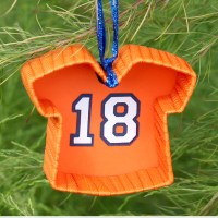 DIY Football Jersey Ornament