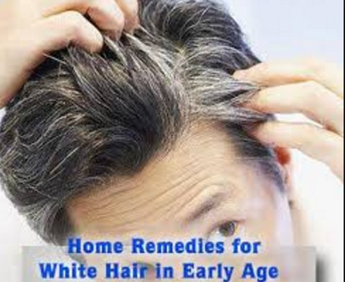 home remdies reduces white hairs