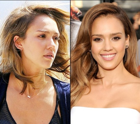 Jessica Alba without make up