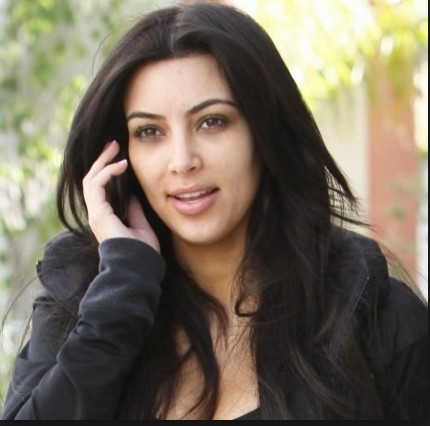 Kim without make up