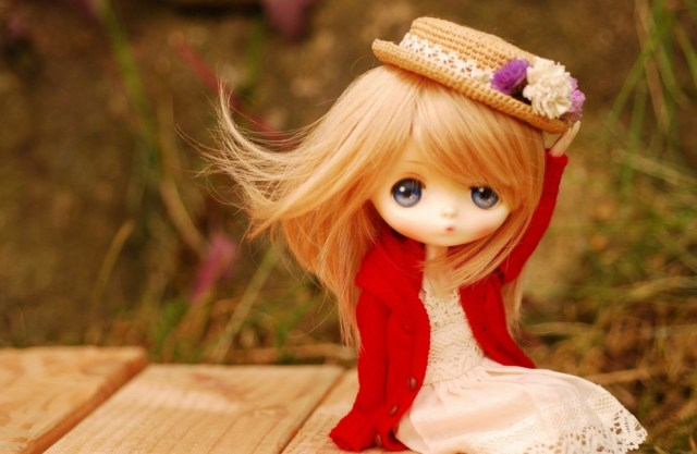 sweet barbie doll image with hat