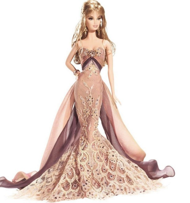 image of cutest barbie doll in bridal wear