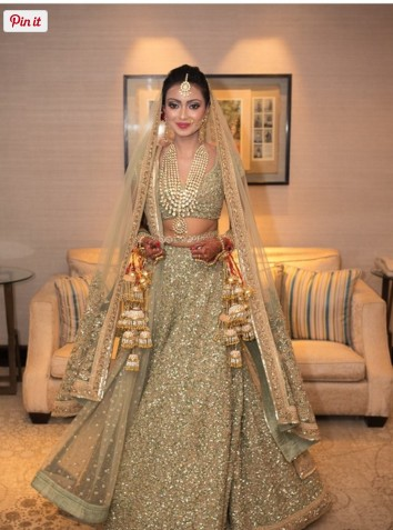golden bridal lahenga