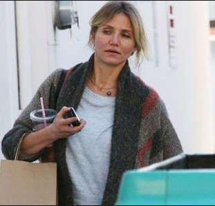 after shopping cameron diaz with out make up