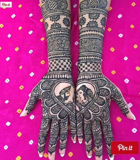 most stunning bridal mehndi design