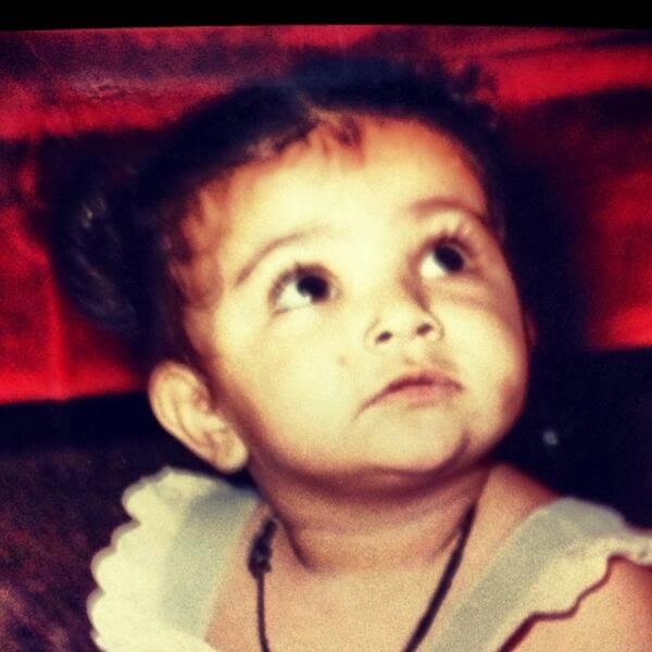 kajal aggrawal childhood pic