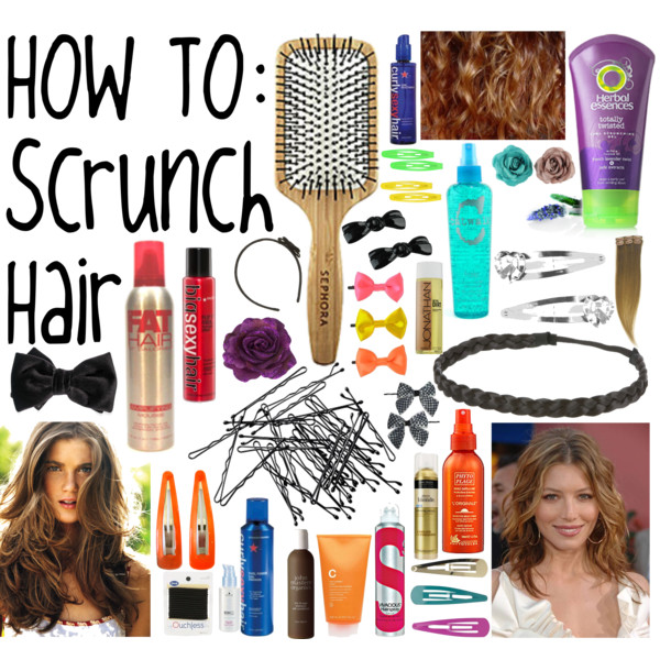 how to scrunch your hairs