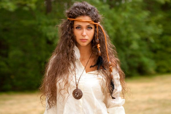 rope band hippie hairstyle