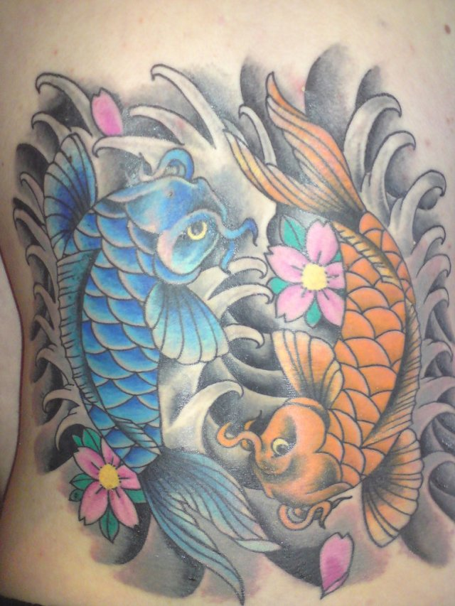 koi fish pisces tattoo design