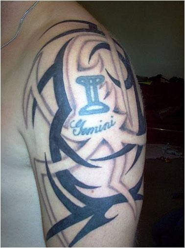 sleeveless gemini tattoo design