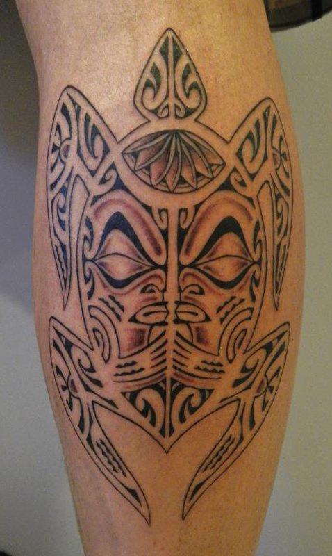 man calf maori tattoo design