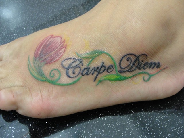 creepper carpe diem tattoo design