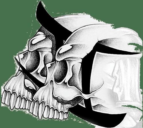 head skull gemini tattoo design