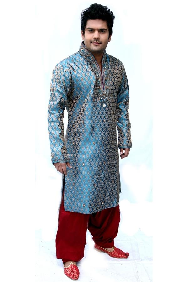 unique kurta pyjama for men