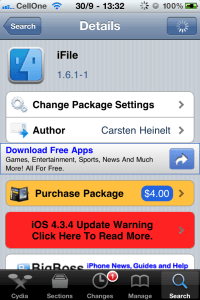 Screenshot of iFile