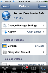 Screenshot Torrent Downloader Plugin