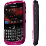 Vista lateral del BlackBerry Curve 9300 rosa