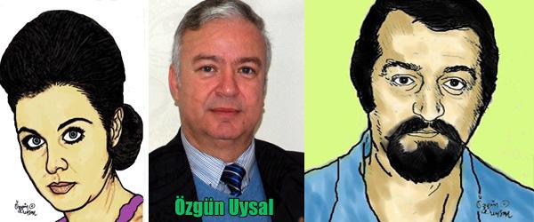 Özgün Uysal'ın çizdiği sanatçı portrelerinin renklendirilmiş halleri