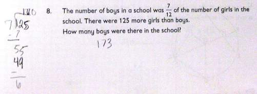 Number of boy and girls in school