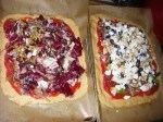 His and Hers Rustic Whole Wheat Pizza