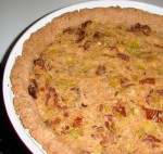 Sun-dried Tomato and Leek Quiche with an Almond / Pine nut Crust