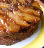 Gingerbread Caramel Pear Upside Down Cake