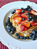 Fourth of July Banana Bread Pancakes