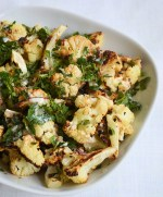 Roasted Cauliflower with Garlic and Mint (Wraps Included)