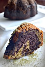 Vegan Chocolate Matcha Bundt Cake