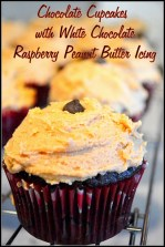 Chocolate Cupcakes with White Chocolate Raspberry Peanut Butter Icing and GIVEAWAY