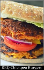 BBQ Chickpea Burgers and Weekend celebration