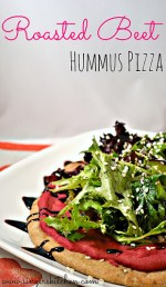 Roasted Beet Hummus Pizza
