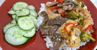 Teriyaki Beef and Veggie Stir-Fry - close-up