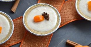 Mini Spiced Persimmon Yogurt Pies #GreekGodsPies