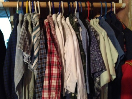 Plenty of dress shirts