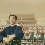 Maestro Li Delun leading the nation in proletarian song in The East is Red, Beijing, 1964