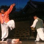 "Landlord Stomp: The Sea of Blood Opera Troupe performs ""The Flower Girl"" in Xi'an, July 2012 