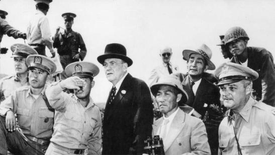 John Foster Dulles at the 38th Parallel, 1950 | Image links to Bruce Cumings, _Korea's Forgotten Nuclear Threats_