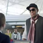 Rodman buys a one-way ticket to paradise. | Image: Foot Locker's YouTube Channel