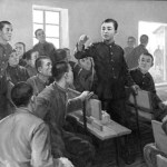A young Kim Il-sung, lecturing his comrades. | Image: KCNA