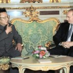 Kim Jong-il and Vladimir Putin during a 2001 meeting in Moscow | Image:
