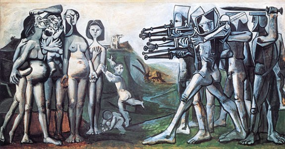 Massacre in Korea (1951), by Pablo Picasso, is a depiction of state violence during the Korean War. | Image: Wikicommons
